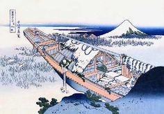"No. 19 常州牛掘 from 葛飾北斎~富嶽三十六景 - Hokusai's ""36 views of Mount Fuji"""