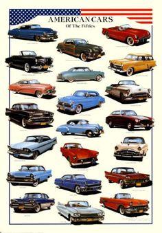 Resultado de imagen de colori auto americane anno 50