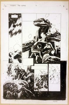 Hell Boy; The Island #2 page 11 by Mike Mignola