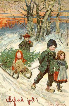 Glad Jul Jenny Nystrom   1910