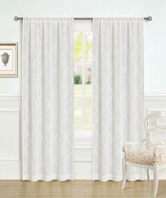 Ebern Designs This set of 2 sheer Window Panels brings modern style to your home. Featuring elegant embroidery set against a sheer background the curtains make for an elegant and eye-catching visual no matter where they are hung. Size per Panel: W x L Curtains Kohls, Grommet Curtains, Hanging Curtains, Drapes Curtains, Sheer Curtain Panels, Window Panels, Laura Ashley Curtains, Extra Long Curtains, Laura Ashley Home