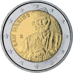 euro: Birthday of Giuseppe Garibaldi.Country: San Marino Mintage year: 2007 Issue date: Face value: 2 euro Diameter: mm Weight: g Alloy: Bimetal: CuNi, nordic gold Quality: Proof, BU, UNC Mintage: pc Giuseppe Garibaldi, Valuable Coins, Euro Coins, Foreign Coins, Commemorative Coins, Proof Coins, World Coins, Coin Collecting, Rock Lee