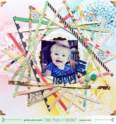 #papercraft #Scrapbook #layout. Happy Girl - Scrapbook.com