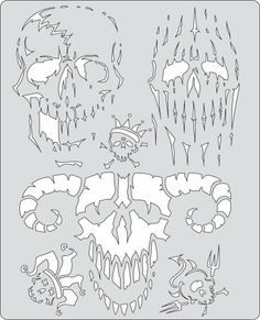 "Artool Freehand Airbrush Templates, Curse Of Skull Evil Horde by Iwata-Medea. $20.39. Save time cutting frisket or acetate masks, no software or plotters needed. Solvent Proof great with both solvent and water-based paints. Three large (6"" x 10"") and three medium (5"" x 8"") templates per set. Versatile extras on every template - old school flames, real curves, circles, bullet holes, rips and tears, broken glass. Precision, laser-cut templates for highly detailed effects...."
