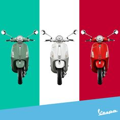 There's no better occasion than today to show off the Italian style. #Vespa #ItalianRepublicDay