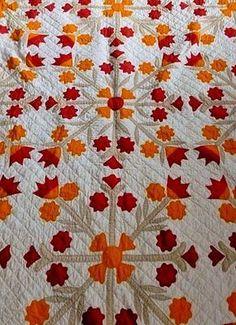"Collectors Handmade Quilt ""Pennsylvania Dutch Tulip Pattern"" Circa 1883 VGC | eBay"