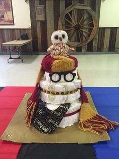 Harry Potter Baby Shower-- themed diaper cake