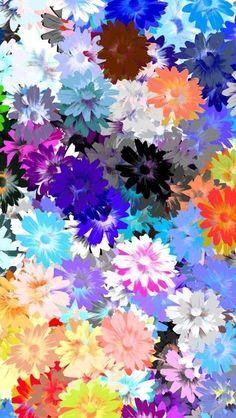 サイケデリックな花柄iPhone壁紙 Wallpaper
