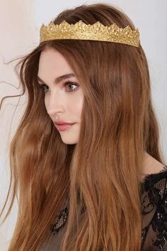 Rock 'n Rose Cara Metal Crown - Accessories | Hair + Hats