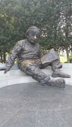 ALBERT EINSTEIN MONUMENT in Washington DC ... Photo by Pinner Steve with his little cell phone.