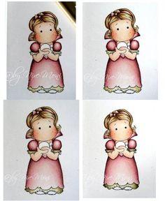 Nixe-Moni : Colorieren mit Prismacolor Stiften ... Coloring with Prismacolor Pencils