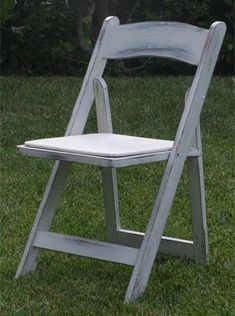 Distressed Folding Chair