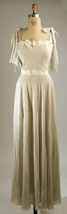 Nightgown  1930s  The Metropolitan Museum of Art