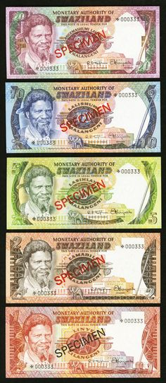 Swaziland Monetary Authority of Swaziland Collector's Series Specimen Set Pick CS1
