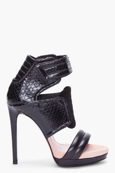 BARBARA BUI Black Python Biker Heels- I ♥ it -already on my birthday whish list!!!