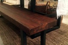 Reclaimed wood and Steel Farm Table