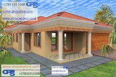 Pergola Over Front Door Modern House Plans, Modern House Design, House Floor Plans, Single Storey House Plans, Flat Roof House, 4 Bedroom House Plans, Site Plans, Pergola Lighting, Garage Plans