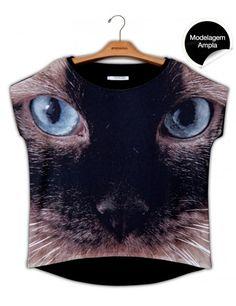 Blusa Premium Quadradasim Gato www.usenatureza.com #UseNatureza #JeffersonKulig