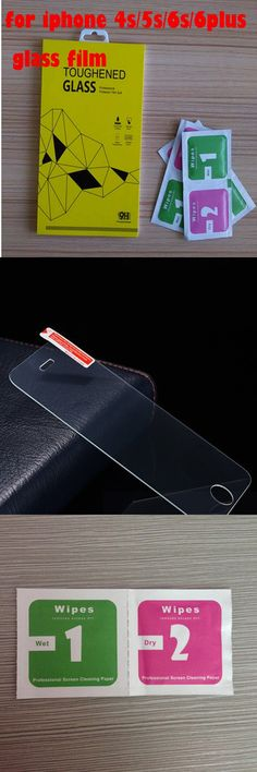 Retail packaging 0.26mm for iPhone 4s/5s/6s/6plus high quality toughened glass screen protection film for iphone 5 glass