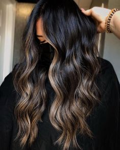 Brunette Hair With Highlights, Brown Hair Balayage, Dark Brunette Hair, Hair Rehab, Hair Color For Black Hair, Hair Day, Hair Pieces, Hair Beauty, Beauty Skin