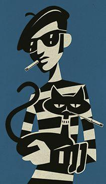 Illustration by Carsten Knappe Illustration, Cool Cats. http://www.carsten-knappe.de