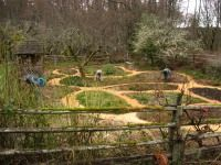 I really thought this was pretty. I'd always figured to make a celtic knot out of plants but a path *in* the garden is very interesting!    http://learningfromtheland.wordpress.com/page/12/?pages-list#