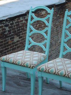 Aqua blue chairs