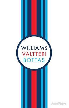 Formula 1 Martini Racing Valtteri Bottas racing stripe