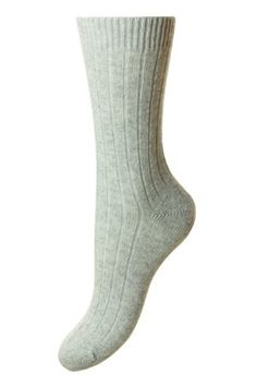 Campbell's of Beauly - Tabitha Cashmere Sock Grey Ladies Socks, Cashmere Socks, Lady, Women, Woman