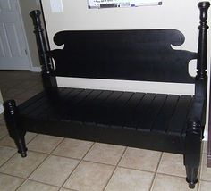bench repurposed from headboard and footboard Headboard Benches, Bed Bench, Headboard Ideas, Headboards, Headboard Makeover, Daybed, Repurposed Furniture, Home Furniture, Furniture Repair