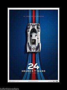 PORSCHE 917K 1970 1971 Le Mans Fine Art Print Poster Ltd Ed Set 4 MARTINI GULF 4