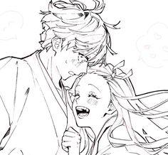 Demon Slayer, Slayer Anime, Fan Anime, Anime Couples Drawings, Handsome Anime Guys, Fanarts Anime, Anime Girl Cute, Anime Ships, Anime Demon
