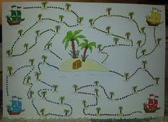 Plán celoroční hry  děti se rozdělí do 4 posádek  každý žák bude za snahu sbírat zlaťáky a za 5 zlaťáků může posunout svoji posádku dál. Celý plán bude na polystyrenové desce a každá posádka bude mít ještě svoji malou vlaječku vyrobenou z párátka a právě ta se bude zapichovat do jednotlivých políček Diy And Crafts, School, Projects
