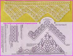 MIRIA CROCHÊS E PINTURAS: BARRADOS DE CROCHÊ N° 650