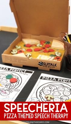 No prep articulation and language activity to use with a pizza themed sensory bin in your speech therapy sessions