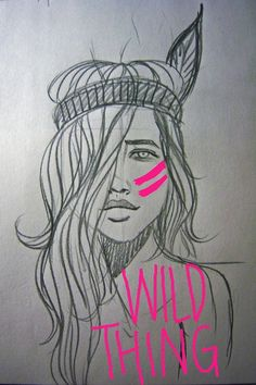 pink, fashion, tribal, sketch, art
