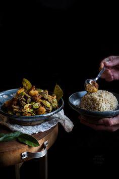 Sambal goreng kentang ati ampla petai (Indonesian potato sambal with chicken livers, gizzards and stink beans) #Indonesianfood