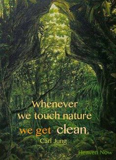 The benefits of nature.