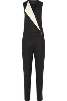 Karl Lagerfeld   Dahlia stretch-wool twill jumpsuit   NET-A-PORTER.COM