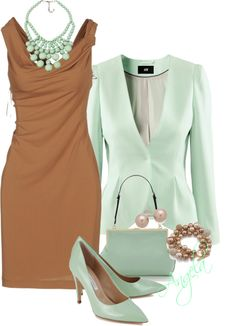 """Mint Chocolate"" by angela-l-s ❤ liked on Polyvore"