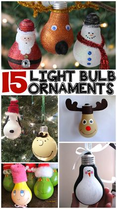 15 DIY Light Bulb Ornaments - @craftymorning0 #ChristmasDecorations