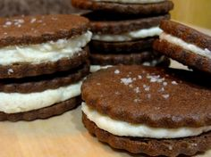 Chocolate Sandwich Cookies with Fleur de Sel