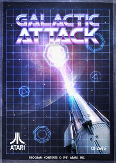 Galacti Attack poster design