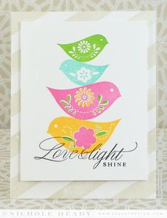 Love & Light Shine Card by Nichole Heady for Papertrey Ink (October 2014)