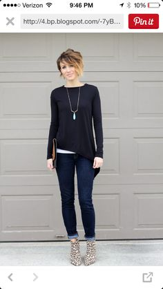 Love this chick's style!