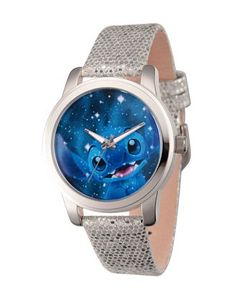 Disney Lilo and Stitch Women's Silver Alloy Watch, Grey Sequins Strap