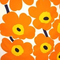 Orange Marimekko design from Finland