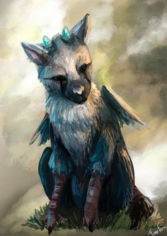 The Last Guardian - Trico , Justine Marchal on ArtStation at https://www.artstation.com/artwork/QPwRL