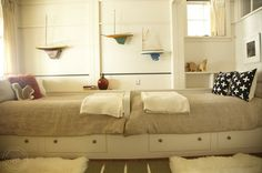 Bedroom Platform Bunk Bed Beach House Design, Pictures, Remodel, Decor and Ideas