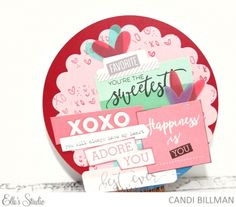 Valentine's Day Card by Candi Billman for Elle's Studio